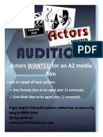 Poster for Auditions