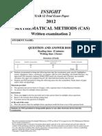 Maths Methods Unit 4 2012_Q&a Updated