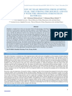 Comparative Study of Near Shooting From Jumping by the Leg (the Weak- The Strong-The Double) and Its Relationship With the Shooting Strength in Handball