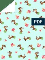 Deershroom Pattern Paper