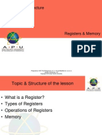 APU CARC 04 Registers and Memory