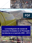 La Investigación de Causas de Incendios Forestales en El Principado de Asturias en El Período 2002-2012