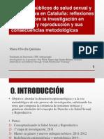 """""""Servicios públicos de salud sexual y reproductiva en Cataluña"""
