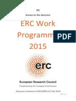 European Research Council - ERC Work Programme 2015 [Bolsas,Projetos,Equipes,Times,Pesquisa,Investigação,Grants,Projects,Research,Europe]