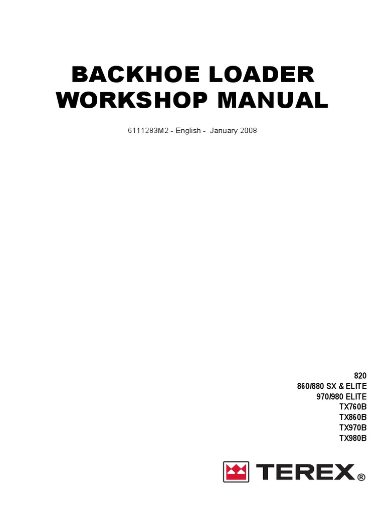 terex 860 workshop manual transmission mechanics screw rh scribd com Terex Dozer Terex Services T30