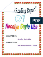 Home Reading Report three