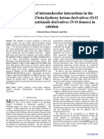 Quantification of intramolecular interactions in the                  metal complexes of beta-hydroxy ketone derivatives (O-O  donors) and benzotriazole derivatives (N-O donors) in  solution