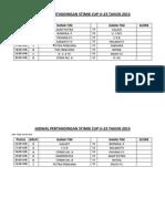 Jadwal Pertandingan Stimik Cup U-23