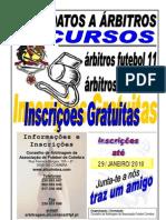 CURSO DE ÁRBITROS FUTEBOL E FUTSAL (GRATUITO)
