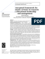 Systematic Reviews of Research in Educational Leadership and Management