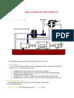 3 Unit Komponen Utama Sistem Hidrolik