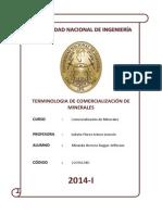Terminologia de Comercializacion de Minerales Miranda Herrera Rogger 20091234D