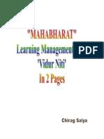 MAHABHARAT - Learning Managemen Tfrom Vidur