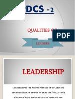 Qualities of Leaders