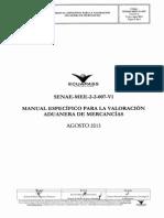 Senae-mee-2!2!007-V1 m e Para La ValoraciÓn Aduanera de MercancÍas