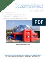 Cotización Planetario y Sistema 3D 10 Metros Con Rotulación