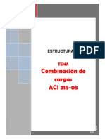 Combinaciones de Carga de Acuerdo ACI