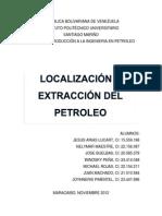 Localización y Extracción del Petroleo