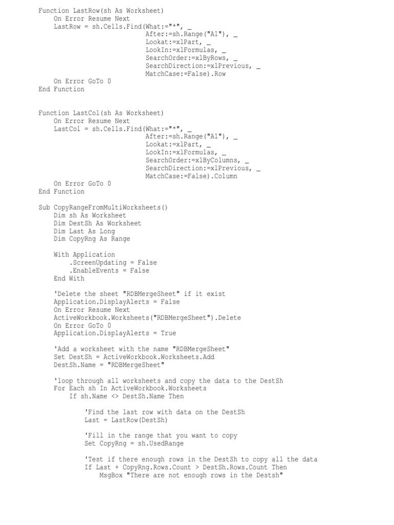 Copy Range Computer Programming Software Engineering