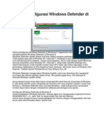 Setting Konfigurasi Windows Defender Di Windows 8