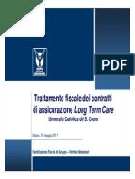 Trattamento Fiscale Dei Contratti Di Assicurazione LTC