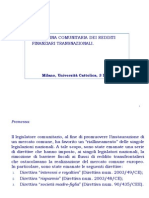 07 Fiscalità Attività Finanziarie (Lezione 3-5-2011 DIRETTIVE Ue)
