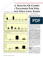 Toughness for Steel Wide Flange Structural Shapes