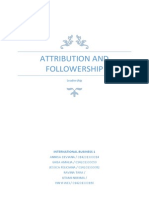 Attribution and Followership Questionairre