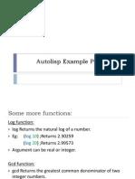 Autolisp Example Programs