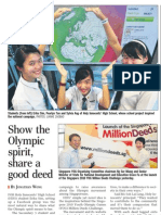 Singapore Goes on a Million Deeds Challenge, 18 Mar 2009, Straits Times