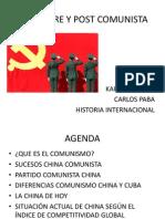 China Pre y Post Comunista