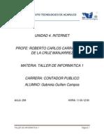 Taller de Informatica Unidad 4.