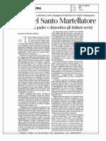 Gian Antonio Stella, Elogio Del Santo Martellatore Padre Di Eva Klotz