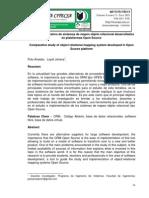 Estudio comparativo de sistemas de mapeo objeto relacional desarrollados en plataformas Open Source