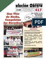 Semanario Revolución Obrera Ed. 417