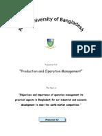Operation Management Assignment Final