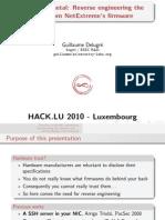 10 Hack.lu Nicreverse Slides