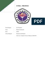 ETIKA PROFESI Pengaturan Dan Regulasi 1 Cyber Law