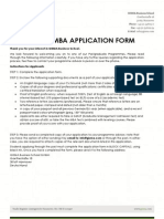 Gisma Msm Mba Application Form 14032014