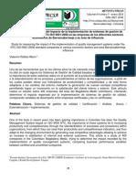 Estudio para la medición del impacto de la implementación de sistemas de gestión de calidad bajo el estándar NTC ISO 9001:2008 en las empresas de los diferentes sectores económicos de Barrancabermeja y su área de influencia
