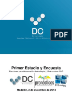 Encuesta a la Gobernación de Antioquia 2015