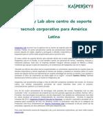 Kaspersky Lab abre centro de soporte técnico corporativo para América Latina