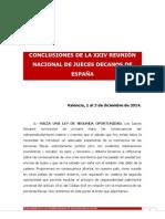 Conclusiones de los jueces decanos de España