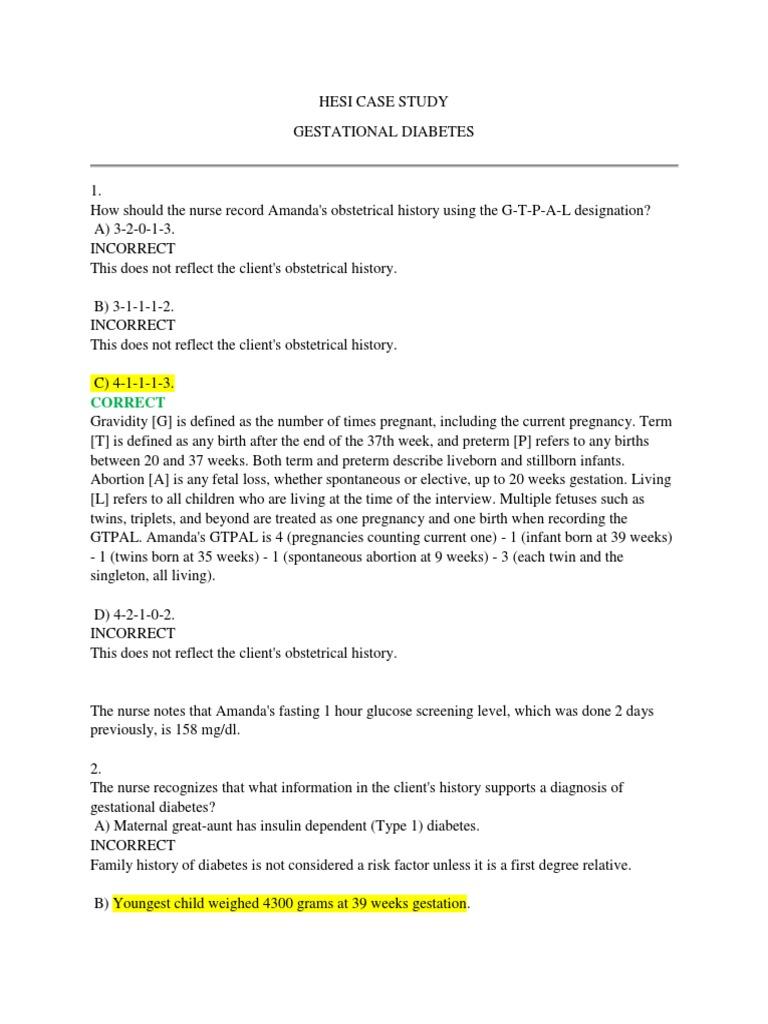HESI CASE STUDY_Gestational Diabetes | Gestational Diabetes
