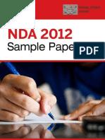 Nda 2012 Sample Paper