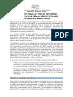 Propuesta Reflexion Pedagogica Por Distritos 6-Nov.-2014