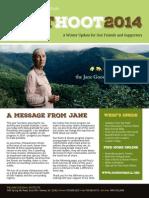 Jane Goodall Institute - Pant Hoot Update - Winter 2014 Edition