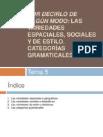 Tema 5- Las Variedades de La Lengua