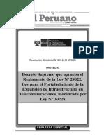 Ley para el Fortalecimiento de la Expansión de Infraestructura en Telecomunicaciones