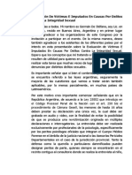 Congreso ALPJF V10 - Evaluación de Víctimas E Imputados en Causas Por Delitos Contra La Integridad Sexual Noviembre 2014